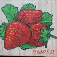 fridge_magnet_peepletree_art_gallery_house_decors_sadashivanagar_bangalore_Bengaluru_still_life_with_pomagranade_pear_and_lemon_acrylic_on_wood_20210103_143906_strawberry.png